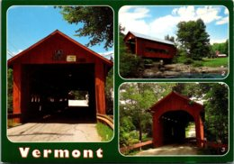 Vermont Covered Bridges Newell Bridge Upper Bridge And Slaughter House Bridge - United States