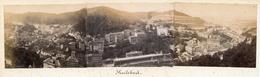 Panoramic Albumen Photograph - Karlsbad GERMANY - 19th Century (35 X 8.5cm) - Alte (vor 1900)