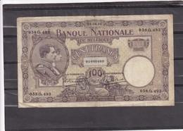 Belg 100 Fr 1921  F - [ 2] 1831-... : Regno Del Belgio