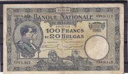 Belg 100 Fr 1928  F - [ 2] 1831-... : Belgian Kingdom