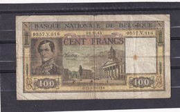 Belg 100 Fr 1945  F - [ 2] 1831-... : Royaume De Belgique