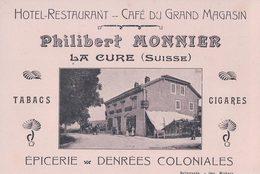 La Cure CH, Publicité, Note, Hôtel Et Grand Magasin Philibert Monnier, Epicerie (4023) - Publicité