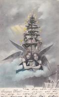 CPA Joyeux Noel - Weihnachtsbaum Engel - 1902  (42440) - Navidad