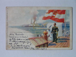 K.U.K. Kriegsmarine Marine  SMS 1092 SMS Wien 1915 Wiener Kunstler Postkarte Ed Philipp I Kramer - Guerra