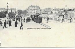 SUISSE GENEVE Pont De Coulouvrenière    Locomotive à Voie étroite Chemin De Fer Voir Détail   Carte Non écrite 1903 - GE Geneva