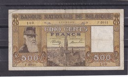 Belg 500 Fr 1945  Fine - [ 2] 1831-... : Reino De Bélgica