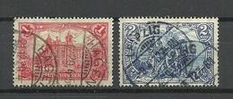 Deutsches Reich 1906/1917 Michel 94 - 95 A (26:17 Zähnungslöcher) O - Allemagne