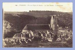 CPA - Etampes (91) - 617. Vue Sur L'Eglise St-Martin - La Tour Penchée - Le Rougemont - Etampes