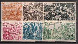 Réunion - 1946 - PA N°Yv. 36 à 41 - WW2 - Non Dentelé / Imperf. - Neuf Luxe ** / MNH / Postfrisch - Réunion (1852-1975)