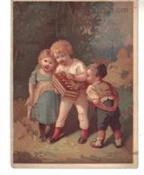 Chromo  Grands Magasins   A La Place CLichy .3 Jeunes Enfants Et Un Instrument De Musique - Other