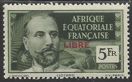 AFRIQUE EQUATORIALE FRANCAISE - AEF - A.E.F. - 1940 - YT 136** - A.E.F. (1936-1958)