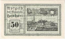 Austria (NOTGELD) 50 Heller 31-12-1920 Henhart KON 366 A.3 UNC Ref 3228-1 - Austria