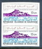 D80- Mauritania 1976 Moenjo Daro Imperf Pair. (PKR) - 1921-... Republic