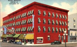 Vermont Rutland Hotel Berwick Center Street Curteich - Rutland