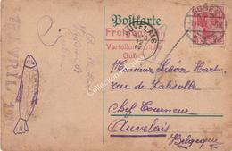 CPA Du Camp De Prisonnier De Guben Allemagne Vers Auvelais TP 10ct Reich 1er Avril 1917 - War 1914-18