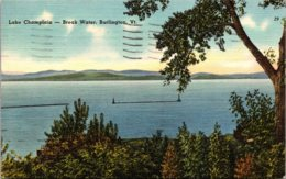 Vermont Burlington Lake Champlain Break Water 1951 - Burlington