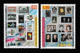 LIECHTENSTEIN 2002 LIBA '02 National Stamp Exhibition, Vaduz: Set Of 2 Stamps UM/MNH - Liechtenstein