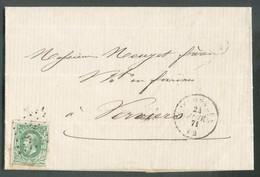 N°30 Obl..LP 268 Sur Lettre De NESSONVAUX 24 Janveir 1871 Vers Verviers.  . - 14373 - 1869-1883 Leopold II