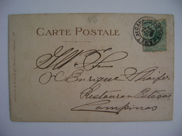 """BRAZIL / BRASIL - POSTCARD SENT TO CAMPINAS WITH STAMP """"STATION OF CAMPINAS"""" IN THE STATE - Brésil"""
