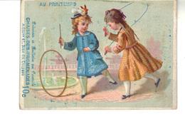 """Chromo Grands Magasins  """"Au Printemps""""  Chaises Des Promenades 10 C Adm. 47, Rue Du Colysée - Other"""