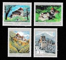 LIECHTENSTEIN 2009/2010 Vaduz Castle In Four Seasons: Set Of 4 Stamps UM/MNH - Nuevos