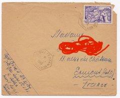 Enveloppe Territoire Militaire FEZZAN, Port 20g (en L'état Coin Droit Déchiré) - Lettres & Documents