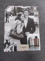 Publicité Papier Parfum - Perfume Ad : BURBERRY London  France 2006 - Advertisings (gazettes)