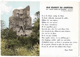 35 Ruines Du Château De Saint Aubin Du Cormier (2 Scans) - Francia