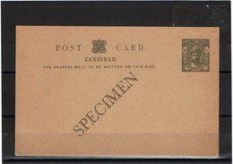 """FAL16 - ZANZIBAR CARTE POSTALE NEUVE """"SPECIMEN"""" - Zanzibar (1963-1968)"""