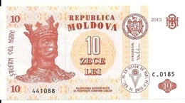 MOLDAVIE 10 LEI  2013 UNC P 10 G - Moldawien (Moldau)