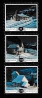 LIECHTENSTEIN 2014 Christmas/Mountain Chapels S/ADH: Set Of 3 Stamps UM/MNH - Liechtenstein