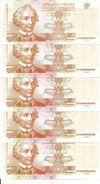TRANSNISTRIE 1  RUBLE 2000 UNC P 34 ( 5 Billets ) - Moldavie