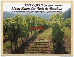 Invitation 11ème Salon Du Vin - Les Amis De Bacchus - Gouesnou (Finistère) - 2009 - Autres Collections