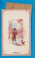 Petite Carte Ouvrante Publicitaire Avec Bandes Parfumées PARFUMERIE Galeries St-Martin 75003 PARIS * Parfum Voyages - Cartes Parfumées