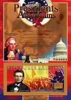 Guinea, 2010. [gu10505] US Presidents, Abraham Lincoln (s/s+block) - George Washington