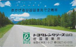 Télécarte Japon / 110-108 - Route & Pub VOITURE TOYOTA - Road On CAR Adv. Japan Phonecard  MD 3314 - Japan