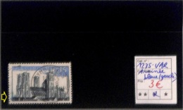 NB - [816701]TB//O/Used-France 1960 - N° 1235v, Cathédrale De Laon, Trainée Bleue Au Cadre Gauche, Variété, Très Peu Cou - Abarten Und Kuriositäten