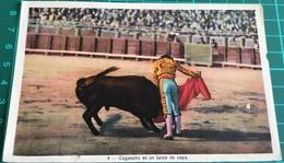 Bullfighting ~ Cagancho En Un Lance De Capa ~ Matadors ~ Bull - Corrida
