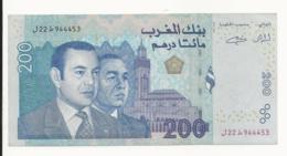 Morocco 200 Dirhams 2002 Small Dirtiness But UNC - Morocco