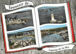 """/ CPSM FRANCE 22 """"Loguivy De La Mer, Le Port Et Vues Générales"""" / PHARE - Autres Communes"""