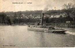 95. CPA. VAUREAL.  Le Port, Bateau A Vapeur.  1936. - Vauréal