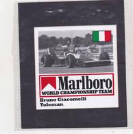 Sticker Marlboro Bruno Giacomelli - Toleman - Automobile - F1
