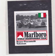 Sticker Marlboro Bruno Giacomelli - Toleman - Car Racing - F1