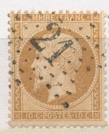 N°21 NUANCE ET OBLITERATION - 1862 Napoleon III