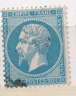 N°22 NUANCE ET OBLITERATION - 1862 Napoleon III