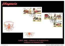 CUBA SPD-FDC. 2006-29 ANTIGUOS CARROS DE BOMBEROS - FDC