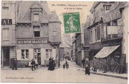 22  PAIMPOL - Maison Du XVè Et La Rue De L'Église - Paimpol