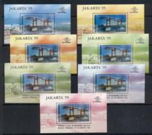 Indonesia 1995 Scenes In Jakarta, Stamp Ex 7x MS MUH - Indonesia