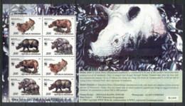 Indonesia 1996 WWF Javan & Sumatran Rhinoceros MS MUH - Indonesia