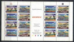 Indonesia 1997 ASCOPE Asian Council On Petroleum Sheetlet MUH - Indonesia